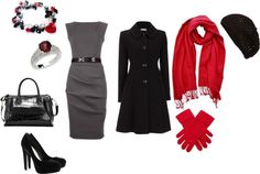 """winter dressy outfit"" by crystalm16 on Polyvore"