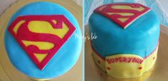 Superman superjohn birthday cake