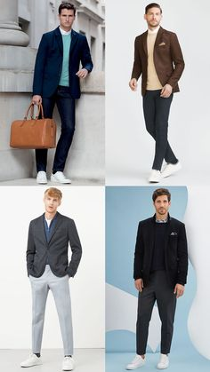 Men's Unstructured Blazers Business-Casual Outfit Inspiration Lookbook