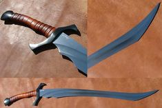 Double Grind Curved Sword