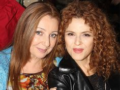 Donna Murphy and Bernadette Peters at the BC/EFA Flea Market