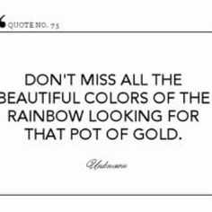 Don't miss all the beautiful colors of the rainbow looking for that pot of gold