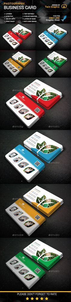 Photography Business Card Template PSD #design Download: http://graphicriver.net/item/photography-business-card-design/14028736?ref=ksioks