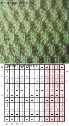 Stricken s knit stitch pattern Lace Knitting Patterns, Knitting Stiches, Knitting Blogs, Knitting Charts, Easy Knitting, Knitting Socks, Stitch Patterns, Finger Knitting, Purl Stitch