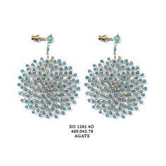 Earrings Pellini Crochet Agate