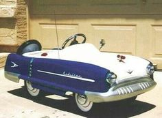 "*PEDAL CAR ~ Baby cadillac - love the ""continental kit"""