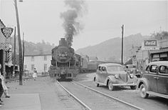 Coal train makes its way through the middle of Osage, WV, 1938.the year I was born!i am old!