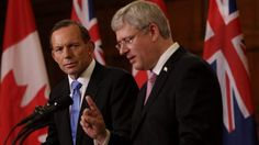 Prime Minister Tony Abbott with Canadian Prime Minister Stephen Harper both say there is no need for carbon pricing to combat climate change.