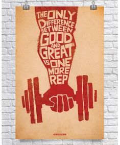 Difference Between Good & Great Motivational by GymPosters, $36.00