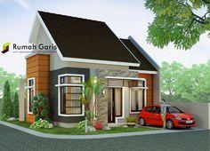 Rumah minimalis modern tipe 60 di lahan sudut 10x15 meter ~ Rumah Garis