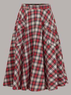 50s style Tartan Print skirt - The Seamstress of Bloomsbury - Not on the Highstreet