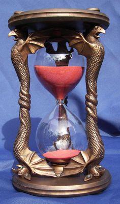 gargoyles? red. hourglass.