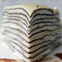 Awaken Your Dessert Love Sensors With This Black & White Mille Crepe