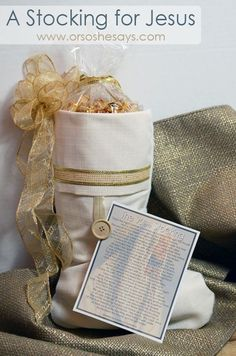 Jesus Stocking and Poem ~ such a special family tradition!