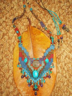 ~ weaving necklace ~ | Flickr - Photo Sharing!