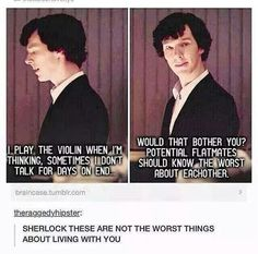 Sherlock, you have no idea.<<<<<<Sherlock is such a child I love him he's so ignorant and innocent sometimes (not too often, but sometimes) Sherlock Holmes Bbc, Sherlock Fandom, Sherlock John, Jim Moriarty, Johnlock, Destiel, Detective, High Functioning Sociopath, Fangirl