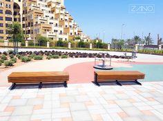 Beautiful benches in beautiful place. ZANO Flash benches in Dubai.