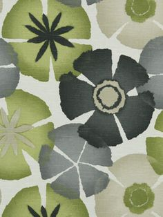 Designer Floral Fabric by the Yard Upholstery by greenapplefabrics, $35.00