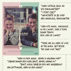 Hugot lines from the movie that thing called tadhana