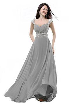 1a787d64576 Balllily Women s Bridesmaid Dress Size 16 Silver Grey Balllily http   www. amazon