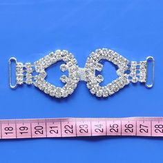 Double Ring Buckles For Invitation Crystal Rhinestone Bikini Connectors For  Women Sexy Swimwear DIY Decorations a25216764bb2