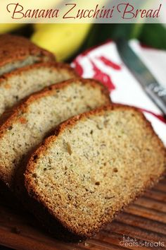 Banana Zucchini Bread ~ Incredibly Moist, Easy and Loaded with Banana and Zucchini!