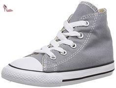 Converse Chuck Taylor All Star Hi, Baskets mode mixte enfant - Gris, 24 EU - Chaussures converse (*Partner-Link)