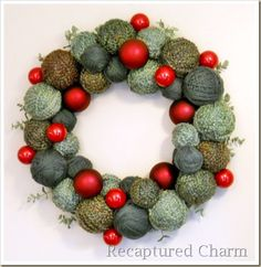 yarn christmas wreath 015a