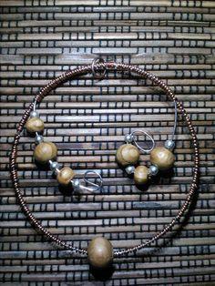 Ciondolo per collane in acciaio e rame di Etno Style su DaWanda.com