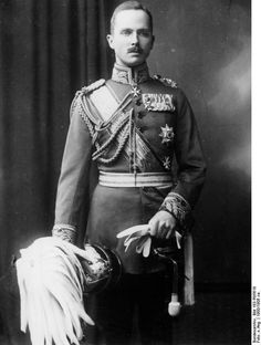 Prince Charles Edward of Albany, Duke of Saxe Coburg and Gotha. Posthumous son of Victoria's youngest son, Leopold Duke of Albany.