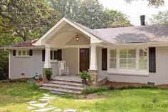 Ranch-style-homes-with-front-porch-addition. remodeling ideas for a ranch style home. Ranch Home Designs, Front Porch Addition, Front Porch Design, Front Porches, Small Porches, Porch Roof, Ranch Exterior, Exterior Remodel, House With Porch