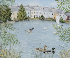 Lucy Grossmith Beautiful Paintings, Beautiful Landscapes, Naive Art, Artist At Work, Home Art, Illustrators, Watercolor Art, Illustration Art, Illustration Pictures