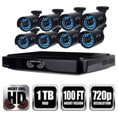 Night Owl 8-Channel 1080p Smart HD Video Security System with 1 TB HDD and 8 x 720p HD Cameras