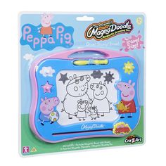 Peppa Pig Magna Doodle Travel Size Magnetic Drawing Toy!! BNIP Ages 3+ Fun!! #Crayola