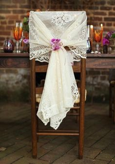 27 Gorgeous Wedding Ideas for Chairs - MODwedding  http://www.modwedding.com/2015/05/17/27-gorgeous-wedding-ideas-for-chairs/