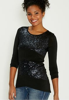 sequin embellished top (original price, $34) available at #Maurices