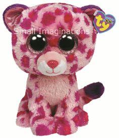 9 inch Glamour the Pink Leopard - TY Beanie Boos Buddy Boo Plush Soft Toy Teddy