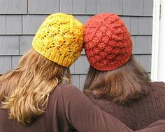 """""""Foliage"""" is a FREE pattern from Knitty! Knit up this rustic leafy hat with 1 skein of @malabrigo Chunky and size 9 and 10.5 needles! http://knitty.com/ISSUEfall07/PATTfoliage.html"""