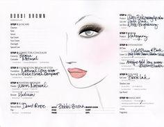 bobbi brown face chart / plum smokey eye