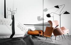 Alicia Sciberras for Habitus | Serge Mouille 3 Arm Light, Fritz Hansen Ro Chair, Fritz Hansen PK22 Chair