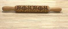 Wood-Rolling-Pin-Wooden-Dough-Roller-Cake-Decorating-Baking-Tool-Deer-in-a-Winte