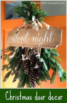 Silent Night Sign ~ Inspiration came from Pottery Barn