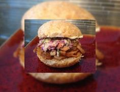 The ginger is the BEST part. Serve with sweet slaw and you've got the best sandwich! Whiskey Sauce, How To Thicken Sauce, Franks Red Hot, Shredded Pork, Best Sandwich, Pork Dishes, Pulled Pork, Burgers, Slow Cooker