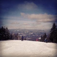 #burkemountain #mountain #ski #snowboarding #trail #tree #vermont #sunny #winter #day #clouds #whataview