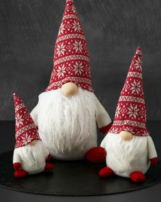 Scandinavian Holiday Gnomes - These guys can't be too difficult to re-produce