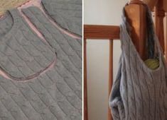 Turn an old sweater into an awesome, fashionable woolen bag! Pullover Upcycling, Old Sweater, Sweaters, Newspaper Dress, Carrie Bradshaw, Fabric Crafts, Thrifting, Celebrity Style, Creations