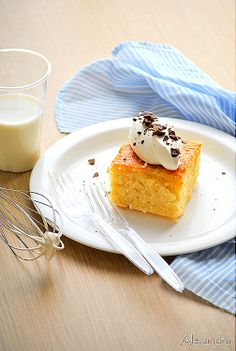 Yoghurt cake with syrup Greek Sweets, Greek Desserts, Greek Recipes, Greek Yoghurt, Yogurt, Sweet Tarts, Easter Recipes, Soul Food, Baked Goods
