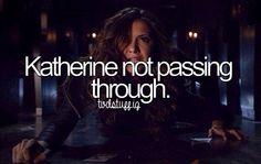 Katherine not passing through