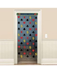 Casino Party Doorway Curtain - could do numbers instead?