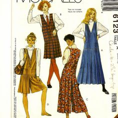 A Back Buttoned Jumper with Dropped Waistline, and Split Skirt Jumper Pattern